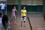 Kiran Rao snapped playing Football