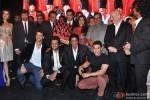 Kristina Akheeva, Sunny Deol, Sangeeth Sivan, Hrithik Roshan, Dharmendra, Bobby Deol, Riteish Deshmukh, Juhi Chawla, Shah Rukh Khan, Subhash Ghai, Aamir Khan and Anupam Kher at Music Launch of 'Yamla Pagla Deewana 2'