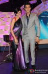 Mandira Bedi and Karan Wahi at Indian Idol Junior Launch