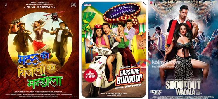 Matru Ki Bijlee Ka Mandola,Chashme Baddoor And Shootout At Wadala Movie Poster