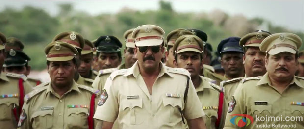 Sanjay Dutt in a still from Policegiri Movie