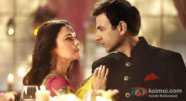 Preity Zinta And Rhehan in a still from Ishkq In Paris Movie