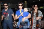 Raj Kundra And Shilpa Shetty snapped at Domestic Airport Pic 1
