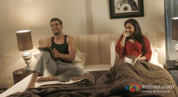 Randeep Hooda And Rani Mukerji in a still from Bombay Talkies Movie