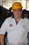 Rishi Kapoor during Aurangzeb's Press Meet at a Construction Site