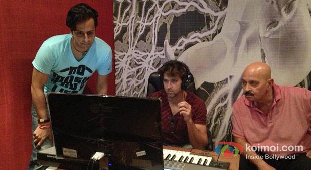 Salim Merchant, Hrithik Roshan And Rakesh Roshan