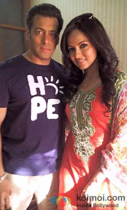 Salman Khan and Sana Khan