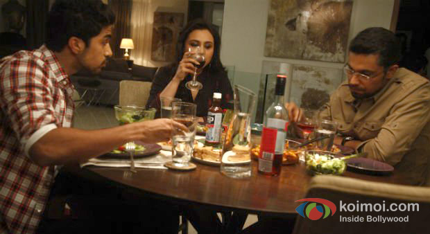 Saqib Saleem, Rani Mukerji And Randeep Hooda in Bombay Talkies Movie Stills