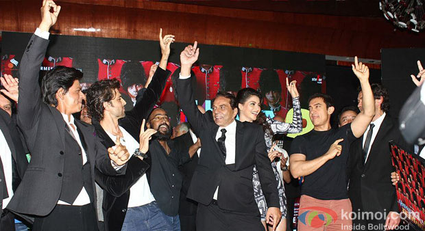 Shah Rukh Khan, Hrithik Roshan, Sangeeth Sivan, Dharamendra And Aamir Khan At Yamla Pagla Deewana 2 Music Launch
