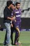 Shah Rukh Khan with Gautam Gambhir at 'KKR vs Rajasthan Royals' IPL Match