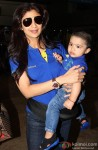 Shilpa Shetty snapped at Domestic Airport with family Pic 2