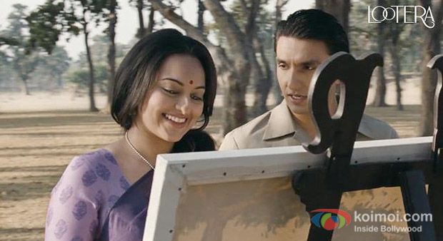 Sonakshi Sinha And Ranveer Singh in a still from Lootera Movie