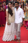 Sonam Kapoor and Dhanush launch their film 'Raanjhanaa' Pic 1