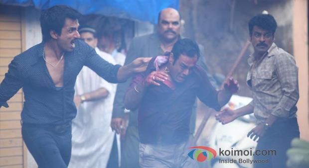 Sonu Sood And Manoj Bajpai in Shootout At Wadala Movie Stills