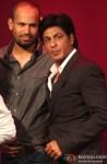 Yusuf Pathan and Shah Rukh Khan at KKR's Press Meet