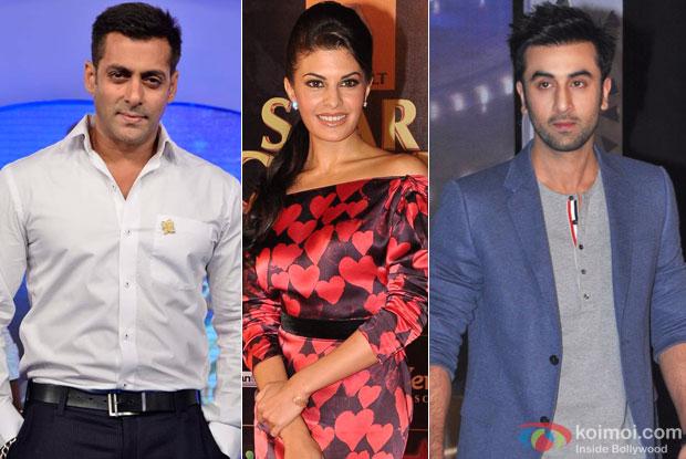 Salman Khan, Jacqueline Fernandez and Ranbir Kapoor