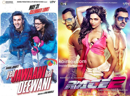 Yeh Jawaani hai Deewani And Race 2 Movie Poster