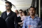 Abhishek Bachchan, Aishwarya Rai Bachchan And Aaradhya Bachchan at Mumbai Airport Pic 1
