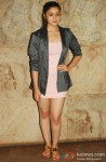Alia Bhatt poses during the screening of movie D Day