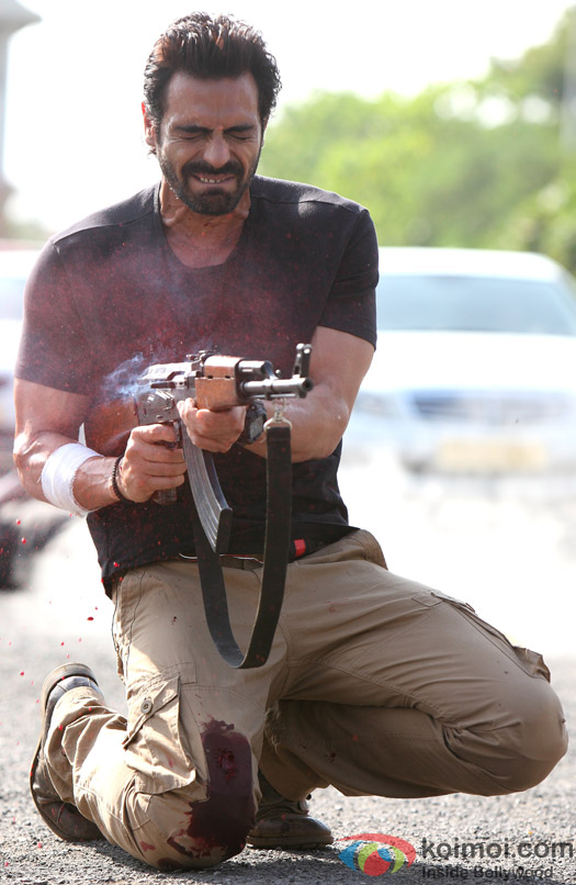 Arjun Rampal in a blazing pose from D-Day
