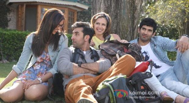 Deepika Padukone, Ranbir Kapoor, Kalki Koechlin and Aditya Roy Kapur in Yeh Jawaani Hai Deewani Movie Stills
