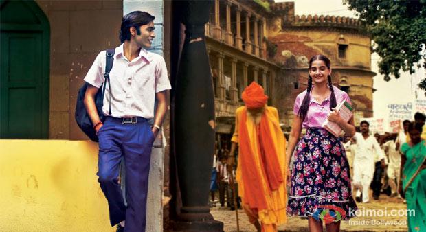 Dhanush And  Sonam Kapoor in Raanjhanaa Movie Stills