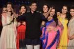 Dia Mirza, Sophie Choudry, Neha Dhupia, Ameesha Patel, Sona Mohapatra and Krishika Lulla at Manish Malhotra's show for CPAA
