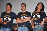 Farhan Akhtar, Ritesh Sidhwani and Richa Chadda at Fukrey Jugaad Song Launch