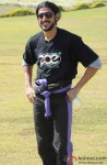 Farhan Akhtar at Aamby Valley Skydiving event