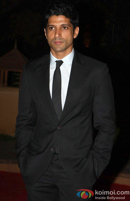 Farhan Akhtar looks handsome in his black suit