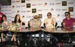Neha Sharma, Kristina Akheeva, Sunny Deol, Dharmendra and Bobby Deol at Yamla Pagla Deewana 2 Movie Promotion