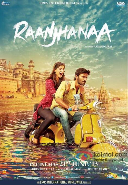 Sonam Kapoor and Dhanush in Raanjhanaa New Poster