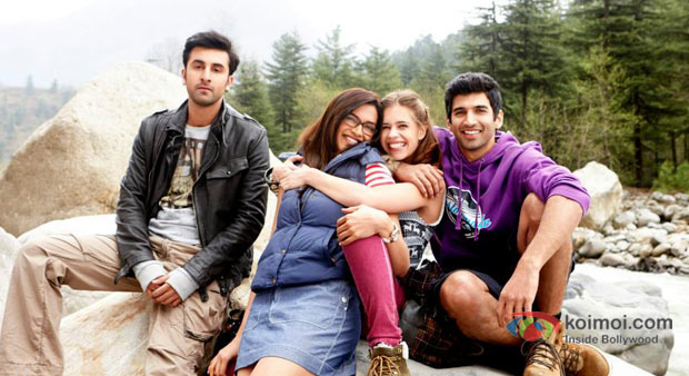 Ranbir Kapoor, Deepika Padukone, Kalki Koechlin and Aditya Roy Kapur in Yeh Jawaani Hai Deewani Movie Stills