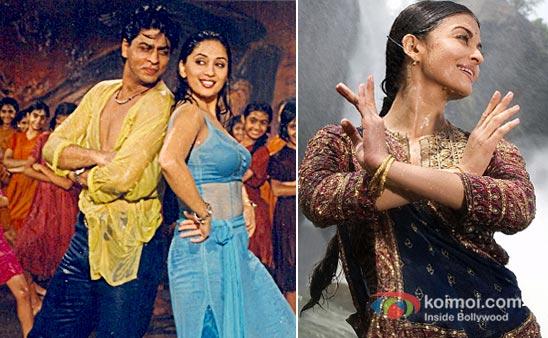 Shah Rukh Khan And Madhuri Dixit in Dill Toh Pagal Hai And Aishwarya rai Bachchan in Guru Movie Stills