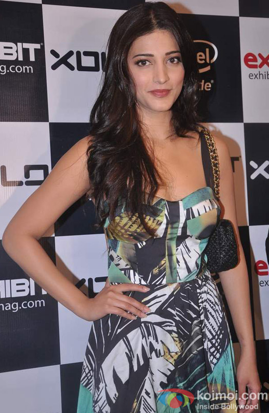 Shruti Haasan at Exhibit Magazine Bash Event
