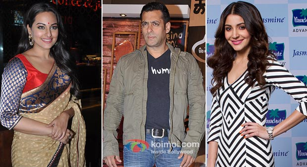 Sonakshi Sinha,Salman Khan And Anushka Sharma