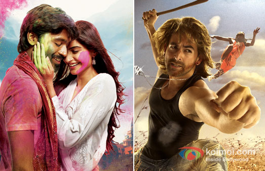Dhanush And Sonam Kapoorin Raanjhanaa And Neil Nitin Mukesh In Shortcut Romeo Movie Poster