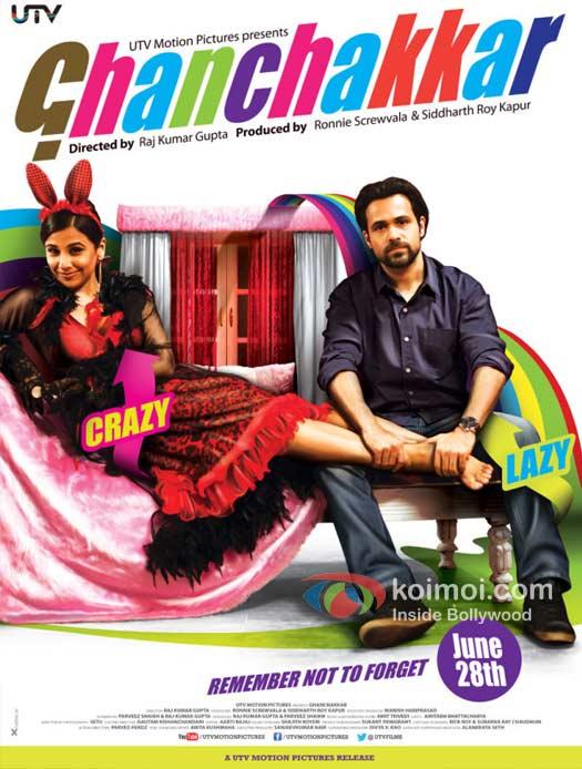 Vidya Balan and Emraan Hashmi in Ghanchakkar Movie Poster