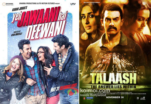 Yeh Jawaani Hai Deewani And Talaash Movie Poster