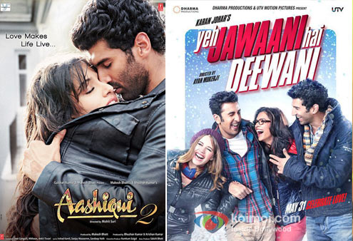 Aashiqui 2 And Yeh Jawaani Hai Deewani Movie Poster