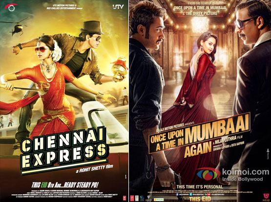 Chennai Express and Once Upon A Time In Mumbaai Again Poster