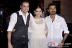 Abhay Deol, Sonam Kapoor And Dhanush at the success bash of 'Raanjhanaa'