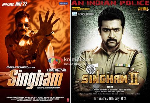 Ajay Devgan in Singham And Suriya Singam 2 Movie Poster