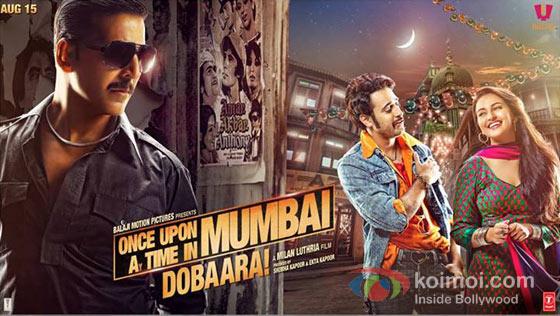 Akshay Kumar, Imran Khan And Sonakshi Sinha in Once Upon A Time In Mumbaai Dobaara! New Movie Poster