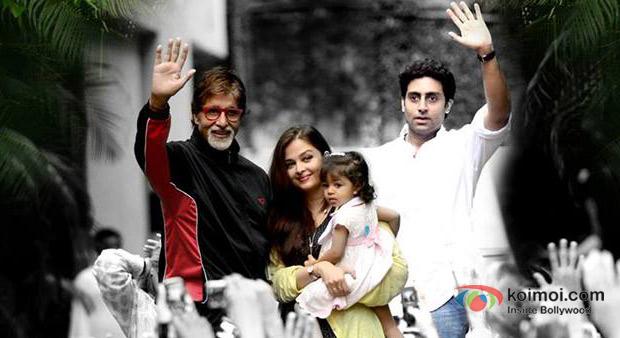 Amitabh Bachchan, Aishwarya Rai Bachchan, Aaradhya Bachchan And Abhishek Bachchan