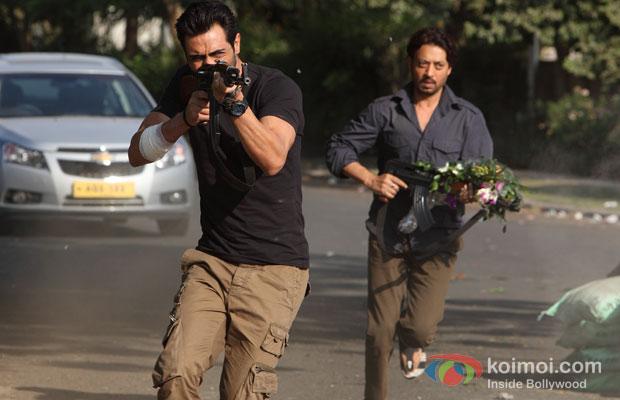 Arjun Rampal And Irrfan Khan in D Day Movie Stills