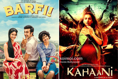 Barfi! Movie Poster And Kahaani Movie Poster