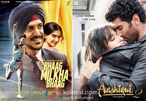 Bhaag Milkha Bhaag And Aashiqui 2 Movie Poster