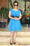 Divya Dutta poses at Mangiamo Restaurant