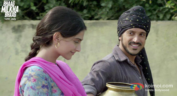 Sonam Kapoor And Farhan Akhtar in Bhaag Milkha Bhaag Movie Stills